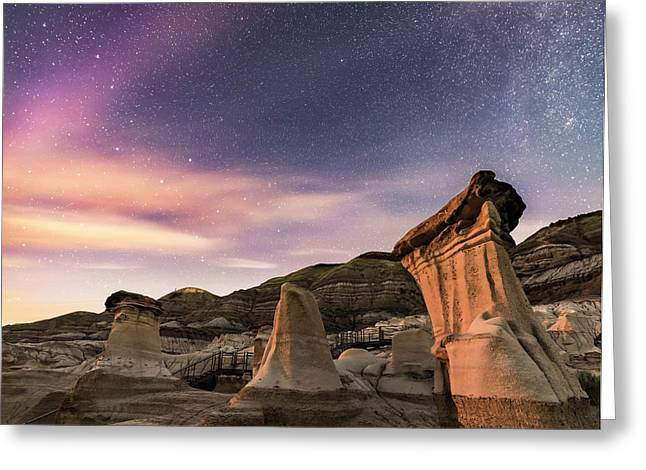 Big Dipper Over The Hoodoos Greeting Card