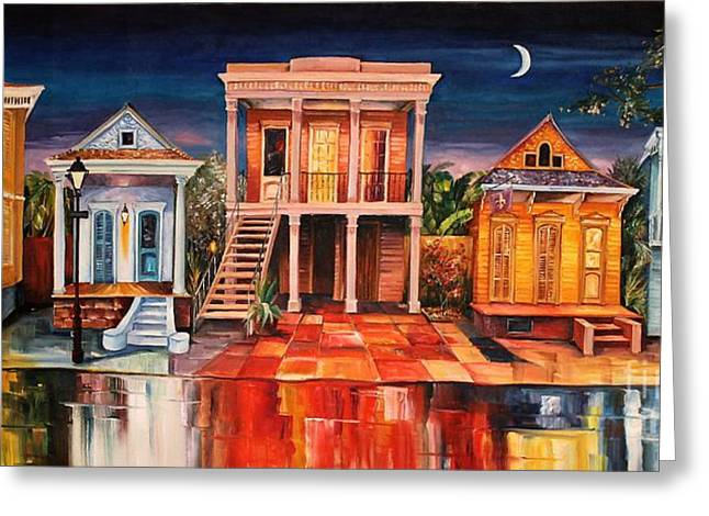 Big Easy Night Greeting Card by Diane Millsap