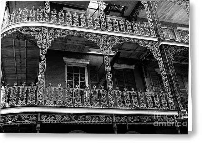 Big Easy Style Mono Greeting Card by John Rizzuto