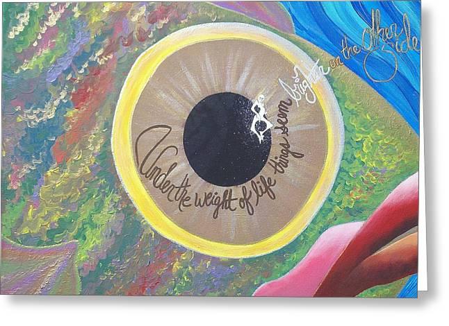 Big Eyed Fish Greeting Card by Nina Giordano
