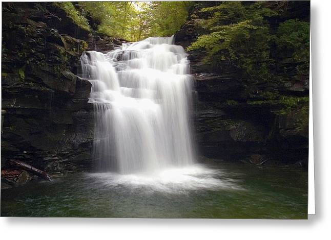Big Falls In The Rain Greeting Card