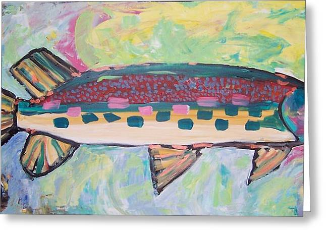 Big Fish Greeting Card by Krista Ouellette