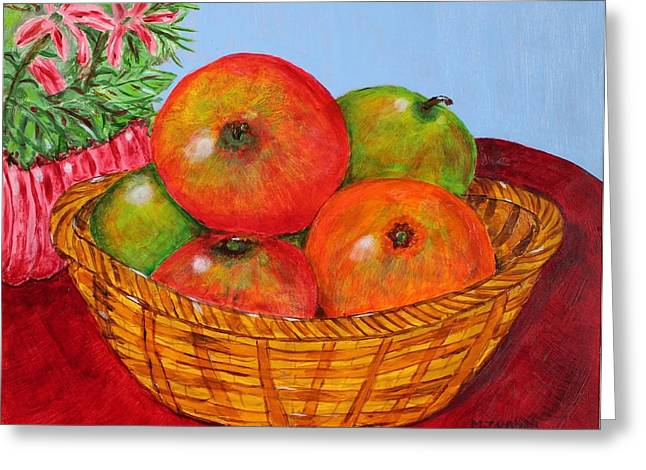 Big Fruit Greeting Card by Melvin Turner