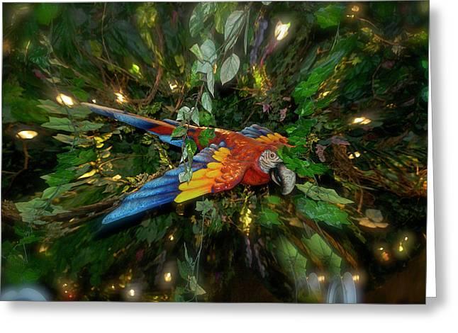 Big Glider Macaw Digital Art Greeting Card by Thomas Woolworth