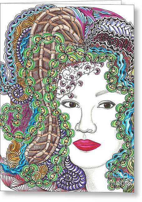 Big Hair Color Greeting Card