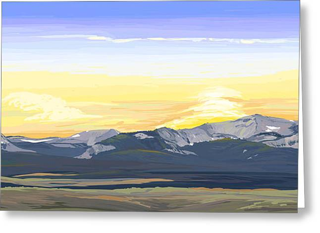 Big Hole Beaverhead Mountains Greeting Card