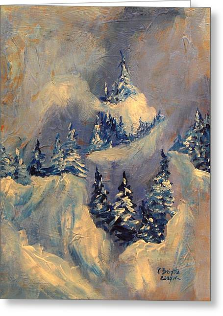 Big Horn Peak Greeting Card by Patricia Brintle