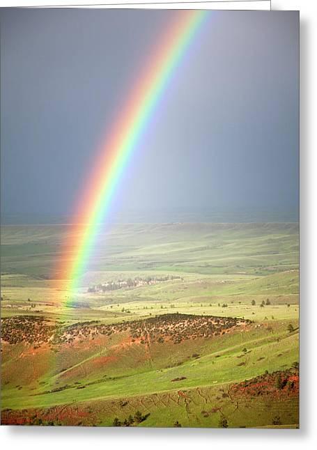 Big Horn Rainbow Greeting Card by John Stephens