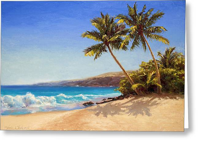 Hawaiian Beach Seascape - Big Island Getaway  Greeting Card