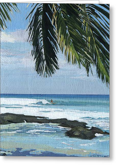 Big Island Surfing Greeting Card by Stacy Vosberg
