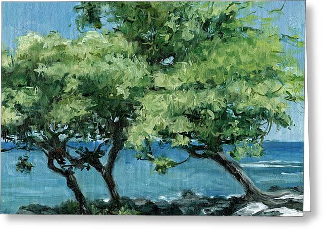 Big Island Trees Greeting Card by Stacy Vosberg