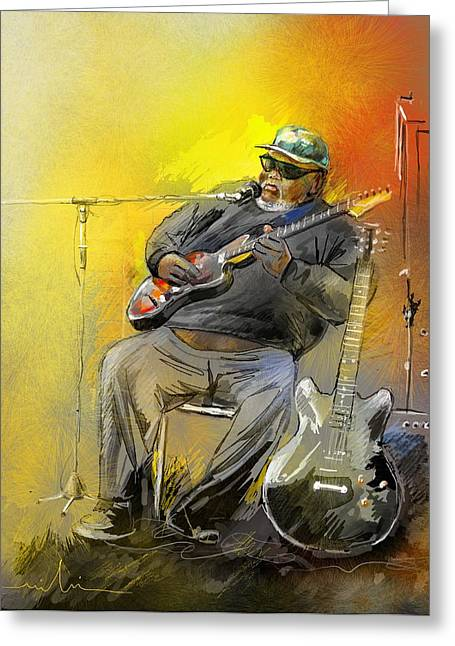 Big Jerry In Memphis Greeting Card by Miki De Goodaboom