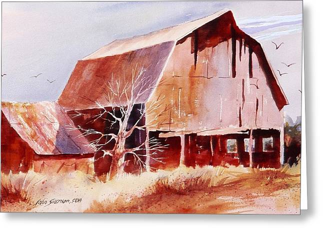 Big Jim's Barn Greeting Card by John  Svenson