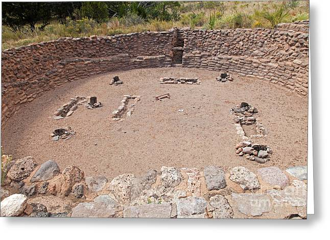 Big Kiva Bandelier National Monument Greeting Card