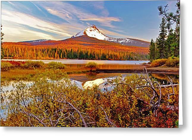 Big Lake And Mt Washington Oregon Greeting Card