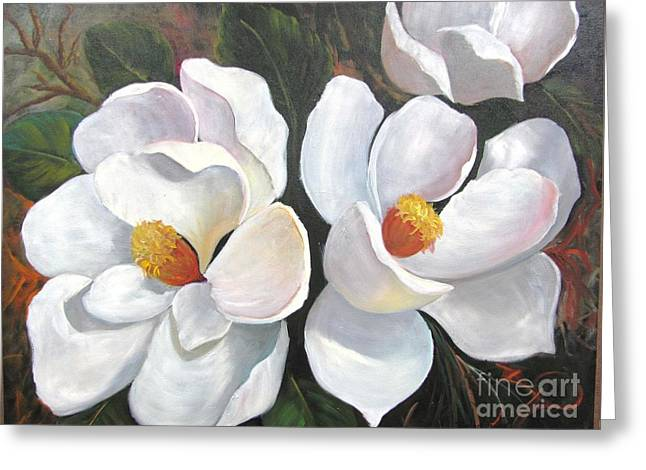 Big Magnolias Greeting Card