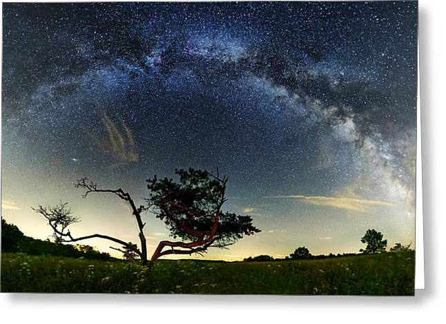 Big Meadows Milkyway  Greeting Card by Andrew Fritz