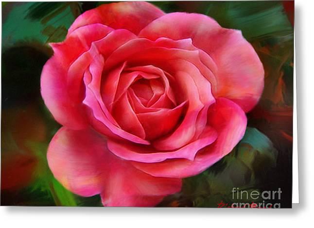 Big Miniature Rose Greeting Card