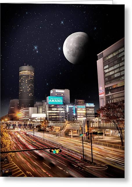 Big Moon Yokohama Greeting Card