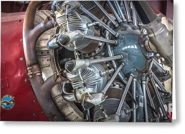 Big Motor Vintage Aircraft  Greeting Card