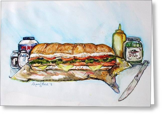 Big Ol Samich Greeting Card by Shana Rowe Jackson
