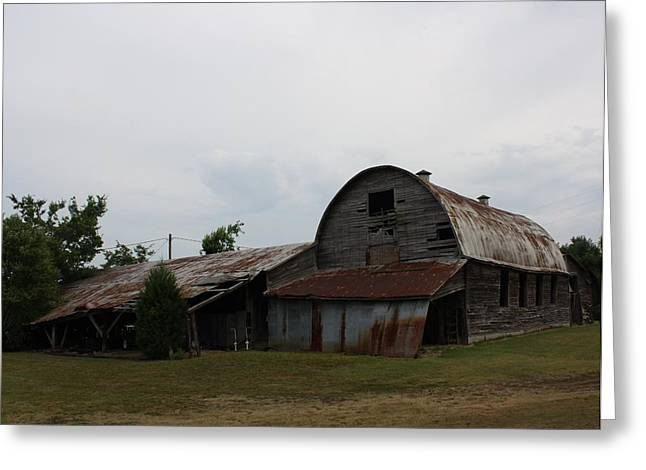 Big Old Barn Greeting Card by Terry Scrivner