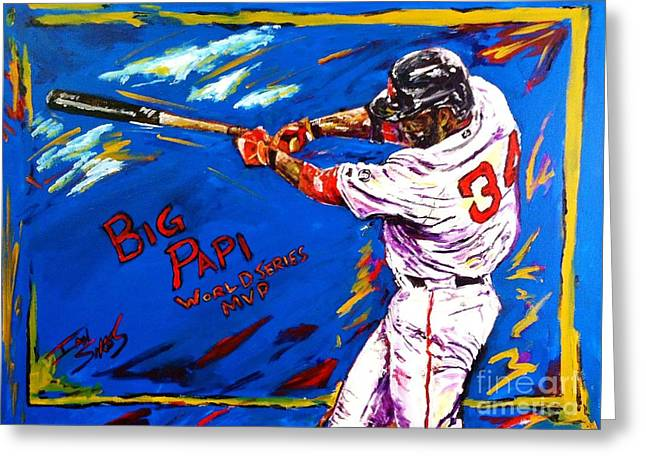 Big Papi Greeting Card by Ian Sikes