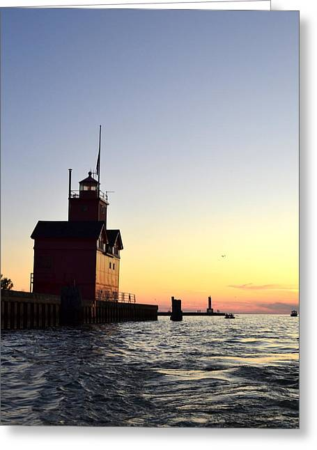 Big Red At Sunset Greeting Card by Michelle Calkins