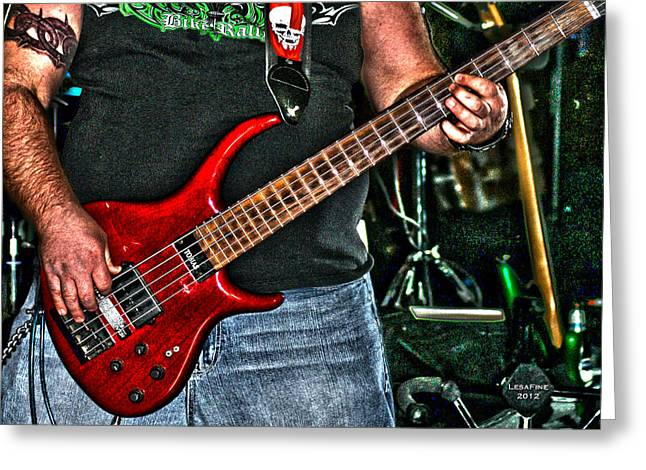 Greeting Card featuring the photograph Big Red Tobias by Lesa Fine