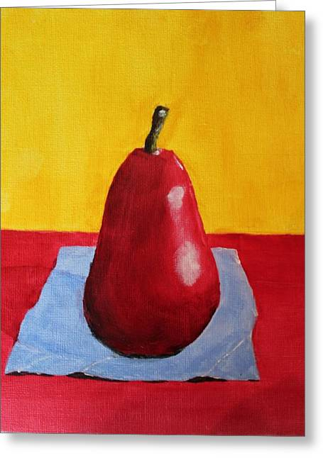 Big Red Pear Greeting Card