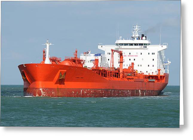 Big Red Tanker Greeting Card