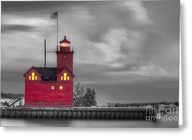 Big Red Greeting Card by Twenty Two North Photography