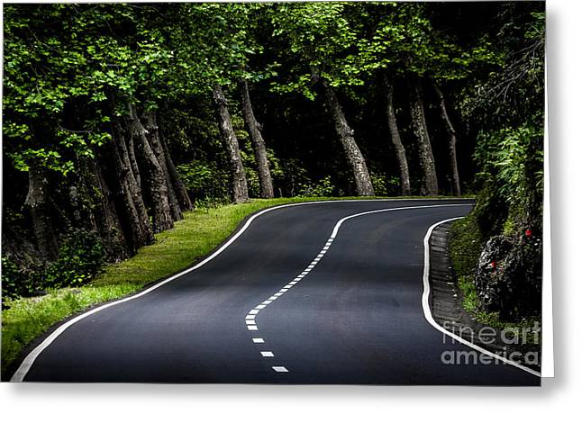 Big  Road Greeting Card