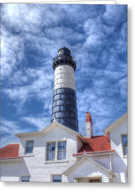 Big Sable Point Greeting Card by Bruce Wilbur