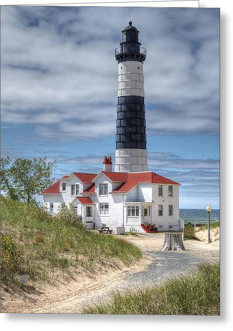 Big Sable Point Lighthouse Greeting Card by Bruce Wilbur