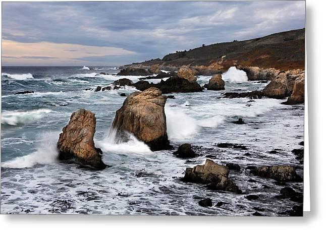 Big Sir Coastal Scenic Greeting Card by Dan Peak