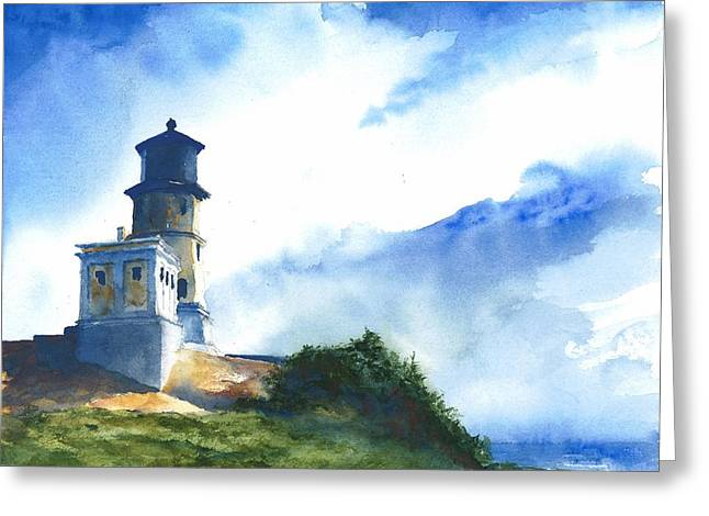 Big Sky At Split Rock Lighthouse Greeting Card