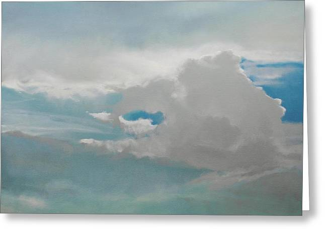 Greeting Card featuring the painting Big Sky by Cap Pannell