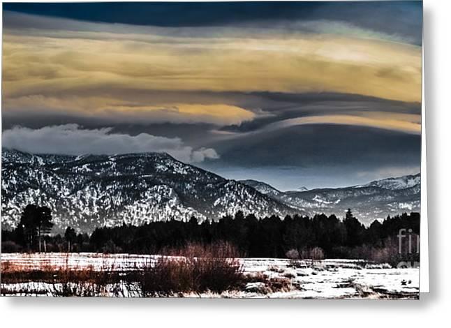 Big Sky Greeting Card by Mitch Shindelbower
