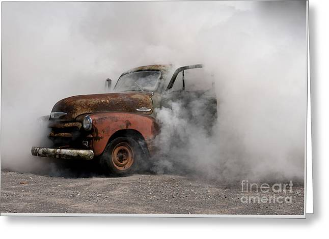 Big Smoking Truck Greeting Card by Wilma  Birdwell