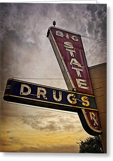 Big State Drugs Irving Greeting Card by Joan Carroll