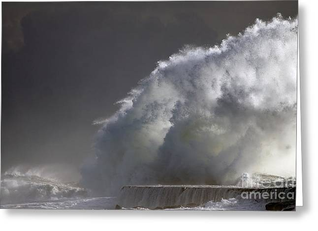Big Storm Wave Greeting Card by Boon Mee