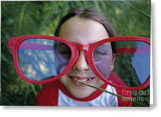 Big Sun Glasses Greeting Card