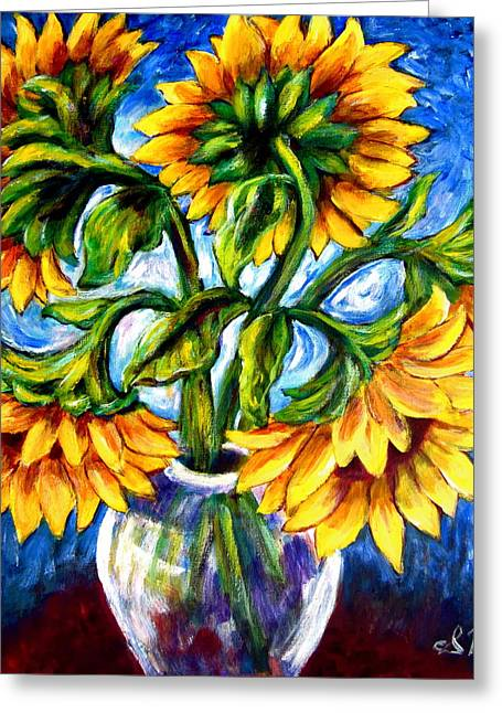 Big Sunflowers Greeting Card