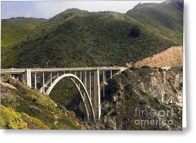 Big Sur  Bridge Greeting Card by Chris Berry