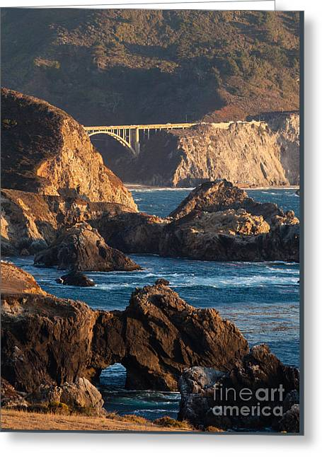 Big Sur Coastal Serenity Greeting Card by Mike Reid