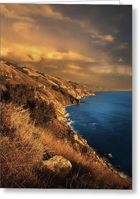 Big Sur Coastline Greeting Card by Rich Franco