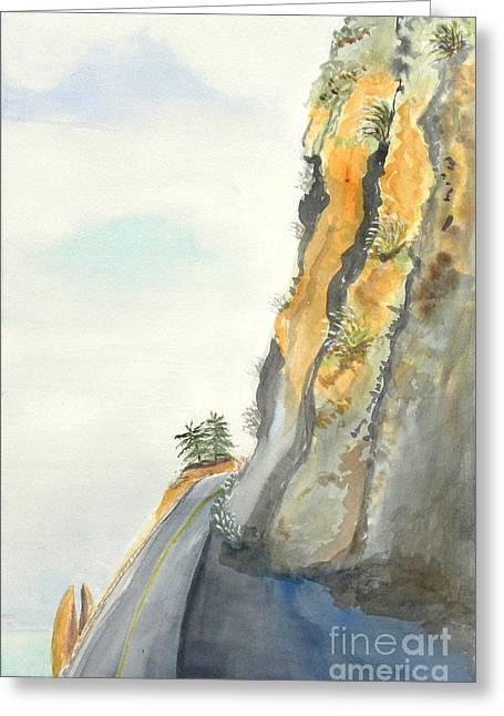 Big Sur Highway One Greeting Card by Susan Lee Clark