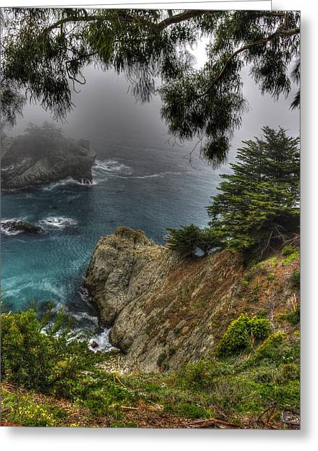 Big Sur Julia Pfeiffer State Park-1 Central California Coast Spring Early Afternoon Greeting Card