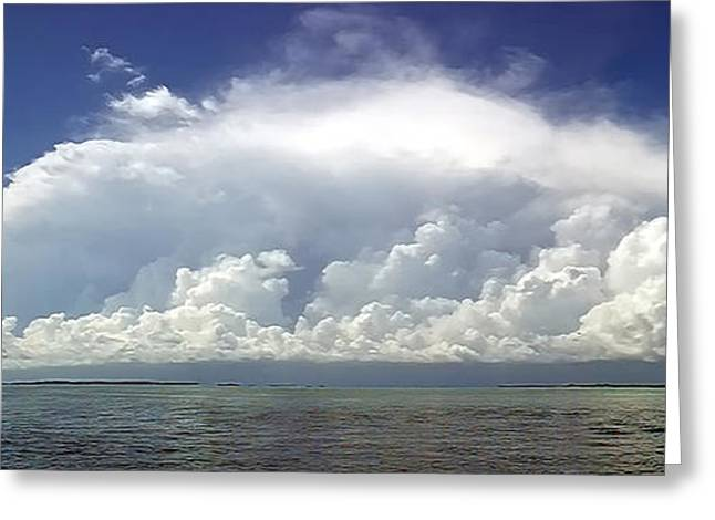 Big Thunderstorm Over The Bay Greeting Card